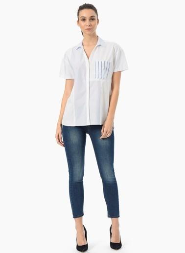 NetWork Kısa Kollu Gömlek Beyaz